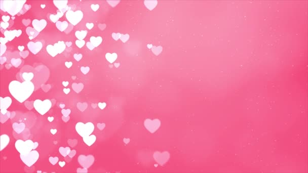 Srdce Bokeh element romantický rám s červenými srdci smyčka pozadí.