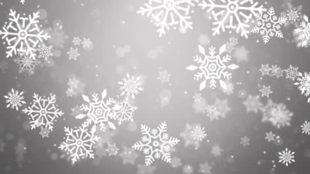 Fehér porszemcsék Lassított felvételen repül a hó a levegőben 4k Háttér Animáció.