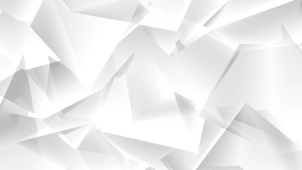 Nahtlose weiße abstrakte Muster. Geometrische Dreiecke und Polygone Schleifenhintergrund.