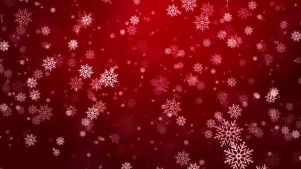 Vánoční stříbro Červená smyčka pozadí se sněhové vločky a slušné modré Veselé Vánoce