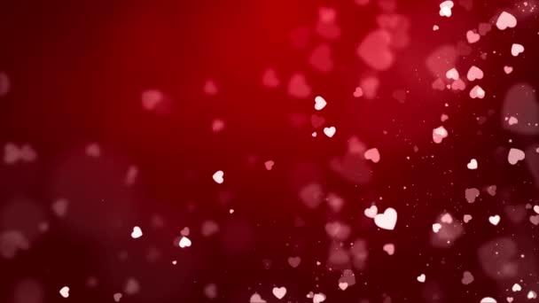 Red Hearts Loop Háttér videó használt több alkalommal, mint a házassági évforduló,