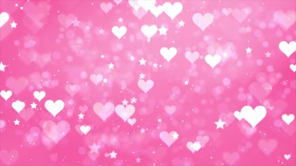 Smyčka pozadí srdcí a hvězd smyčka Animace pozadí.