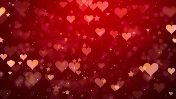 Szív hátterek csökkenő szív részecske fény hurkolt Valentin, esküvő vagy szerelem