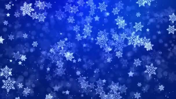 Zlato Částice abstraktní smyčka Pozadí zářící hvězdy prach sníh bokeh třpyt ocenění prach.