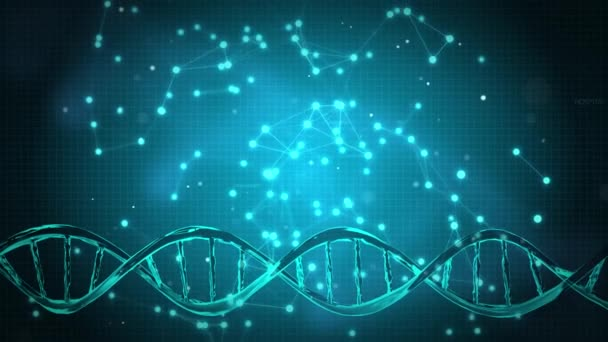abstract technology science concept modern DNA human digital on hi tech binary background