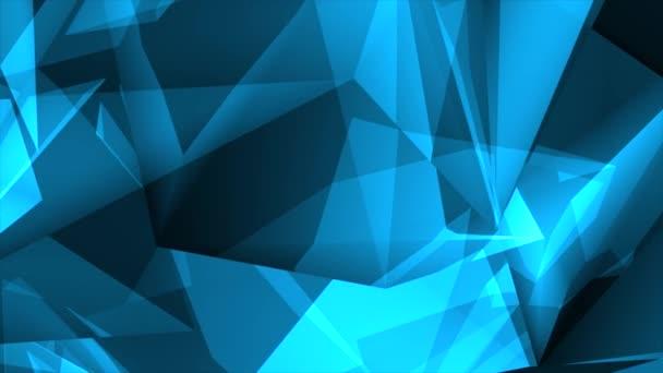 Blau Glänzend Polygonale Dreiecke Hintergrund Schleife modern bunt Hintergrund Schleife Animation.