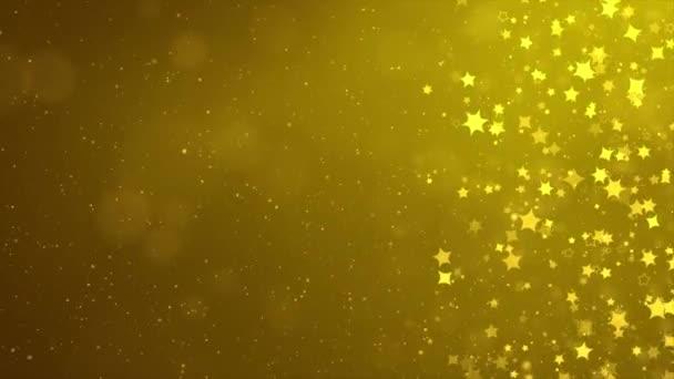 Nádherně třpytivé plovoucí konfety létající se zářícím bokeh světelné částice smyčka pozadí.