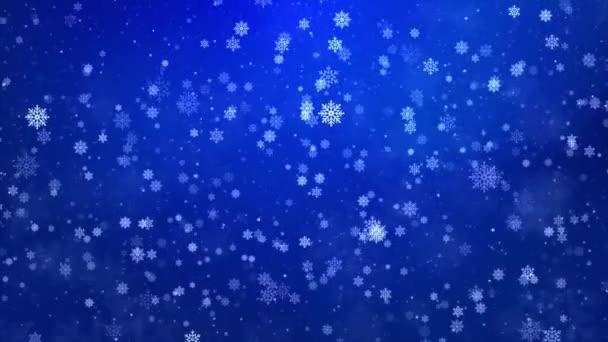 Blue Sparkling Lights Ünnepi hurok Hó háttér textúra.