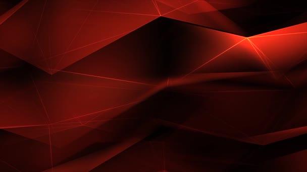 Červený trojúhelník Polygony Low Poly posunutý povrch spojovací čáry smyčka pozadí.