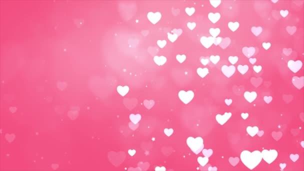 Absztrakt szent Valentin nap Rózsaszín háttér. Számítógép által generált zökkenőmentes hurok