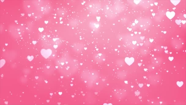 Pink Hearts Loop Background video used in several occasions like wedding anniversary,