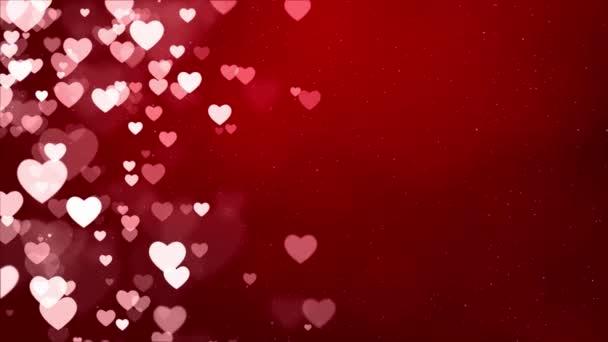 Absztrakt szent Valentin nap Vörös háttér. Számítógép által generált zökkenőmentes hurok