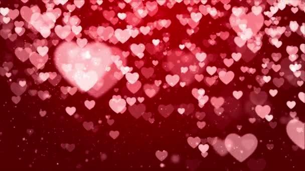 Srdeční pozadí se srdcem částice světlo náplň smyčka pro Valentýna, svatba.