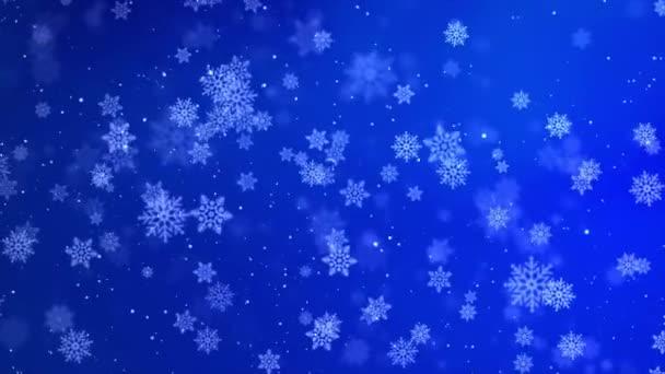 Prach abstraktní světlo Modrý pohyb smyčka pozadí. Animace mihotavých částic.