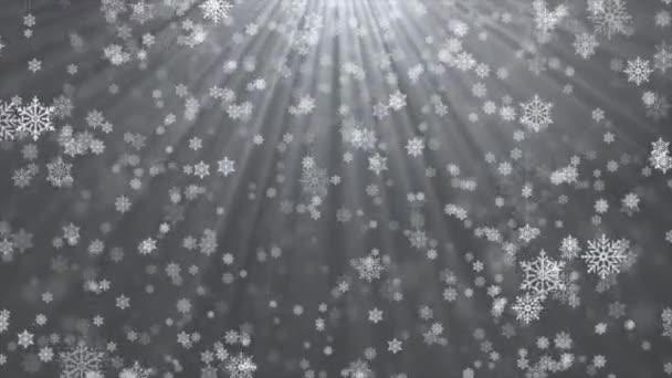 Téli fehér fény hulló hó, hópihe. Nyaralás téli hurok háttér