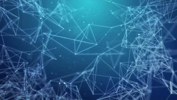 Abstraktní spojovací body a čáry. Připojení věda a technika Smyčka pozadí.