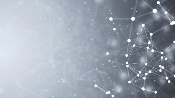 Abstrakte Komposition mit verbindenden Punkten und Linien und Dreiecken Schleifenhintergrund.
