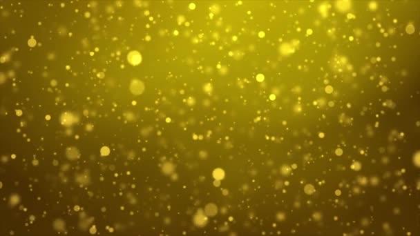 Abstraktní mihotavé záblesky prachu, třpytivé, třpytivé, jiskřivé částice Bokeh.