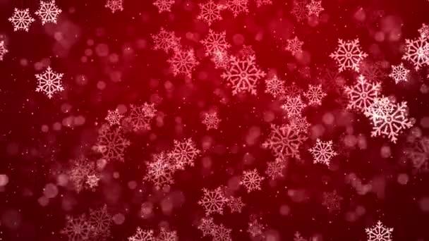 Piros és fehér fényes fények hó elmosódott elvont hurok háttér.