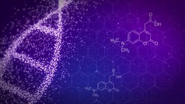abstrakte Biochemie mit dna-Molekül blaue DNA-Helix Doppelhelix mit geringer Schärfentiefe.