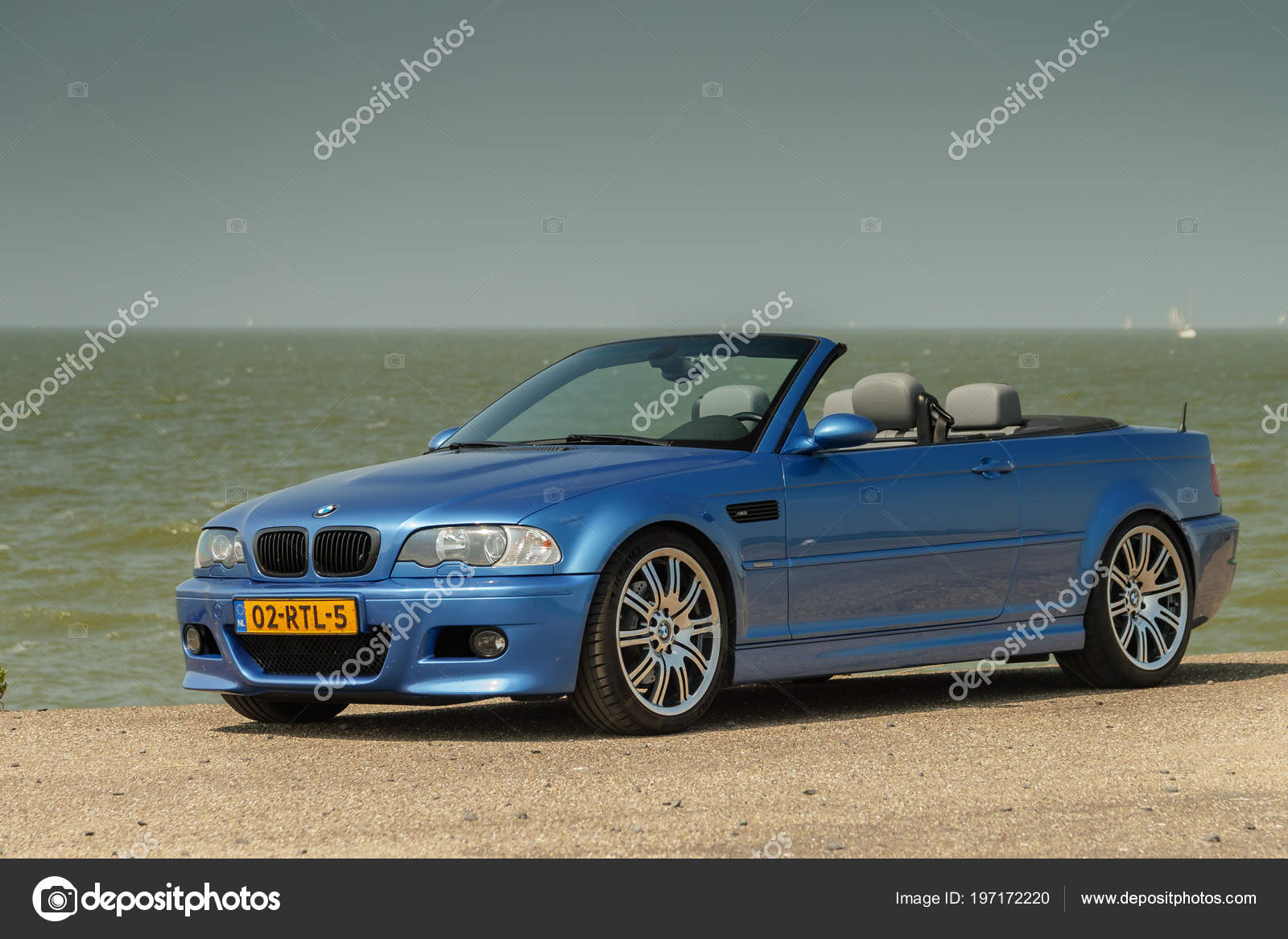 Netherlands May 2018 Convertible Bmw E46 Standing Outdoors Ijsselmeer Sunny Stock Editorial Photo C Mennoschaefer 197172220
