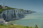 Photo Chalk Cliffs at the France coast with sea view