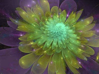 """Картина, постер, плакат, фотообои """"fractal flower beautiful background"""", артикул 202622170"""