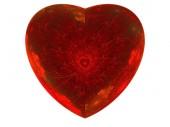 Fotografie fractal heart isolated  romance
