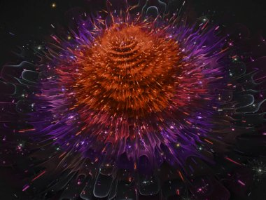 fractal digital flower decorative