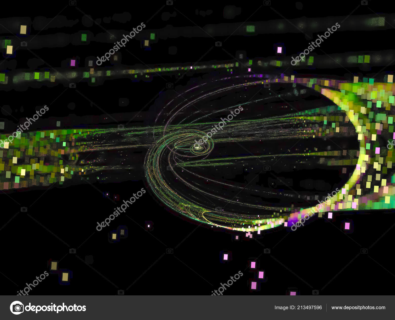 Fractal Abstract Color Digital Background Creative Design