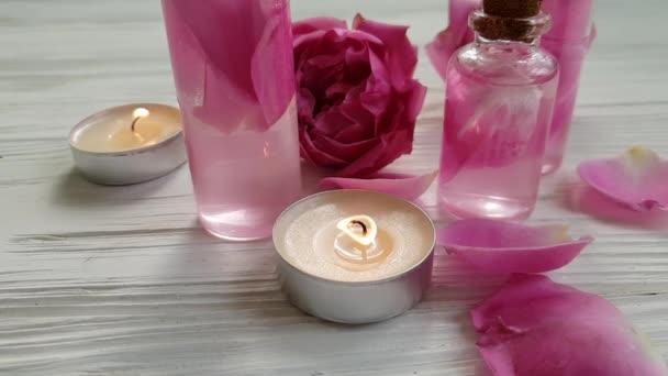 růžovým extraktem, svíčka, zpomalené kosmetický krém
