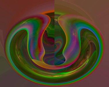 abstract digital fractal fantasy design imagination, decorative