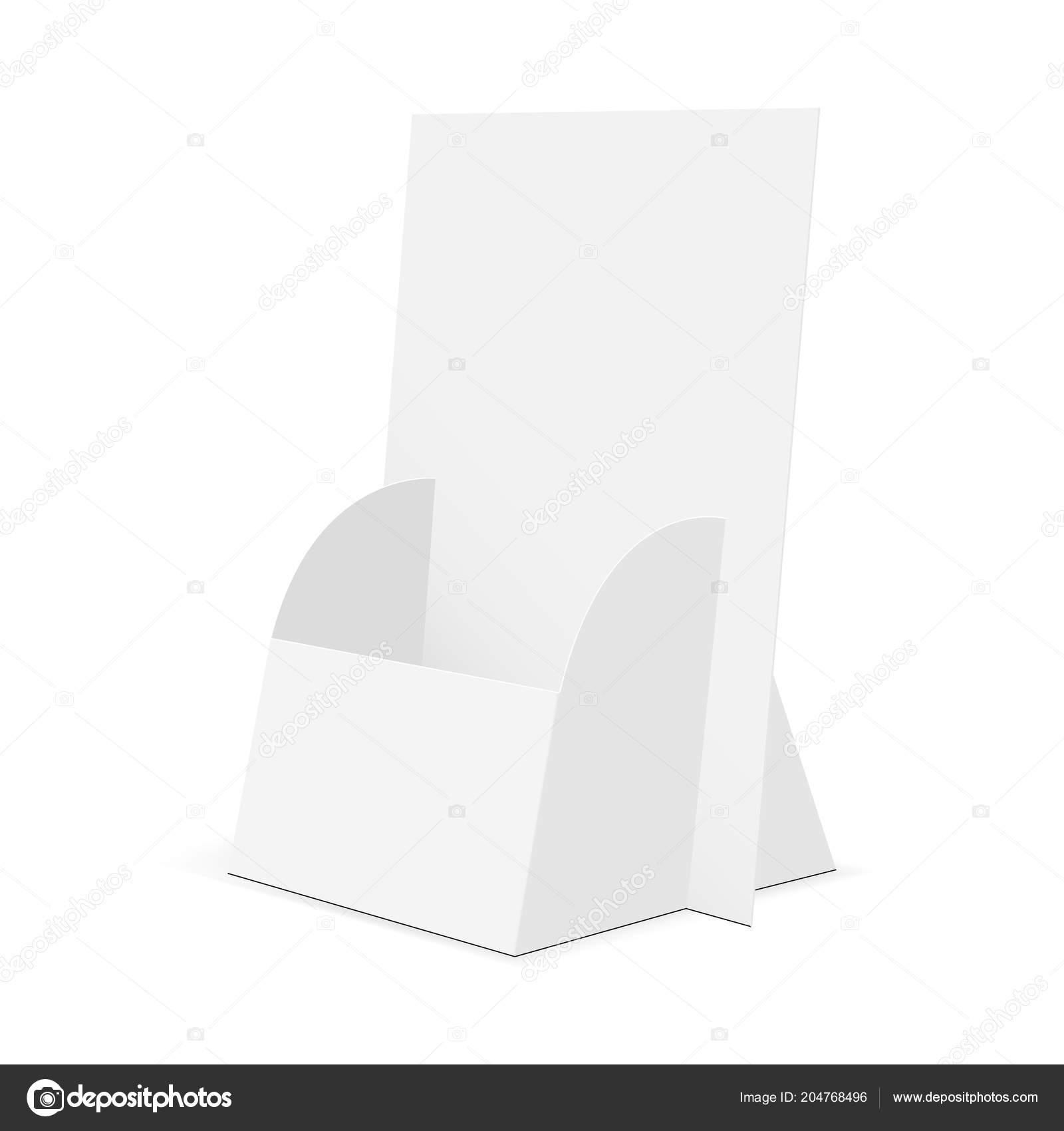 Cardboard brochure display stand   half side view Stock Vector ...