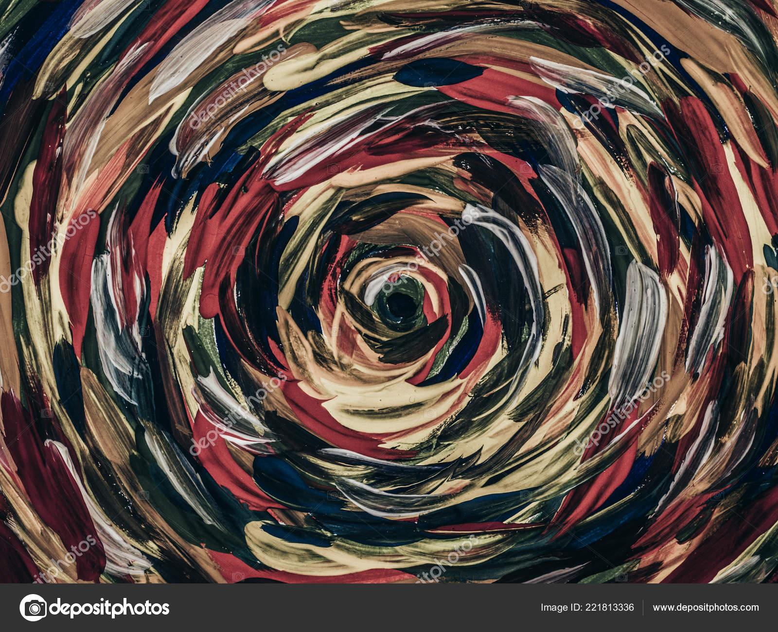 Colorful Circle Mandala Background Hand Drawn Painting