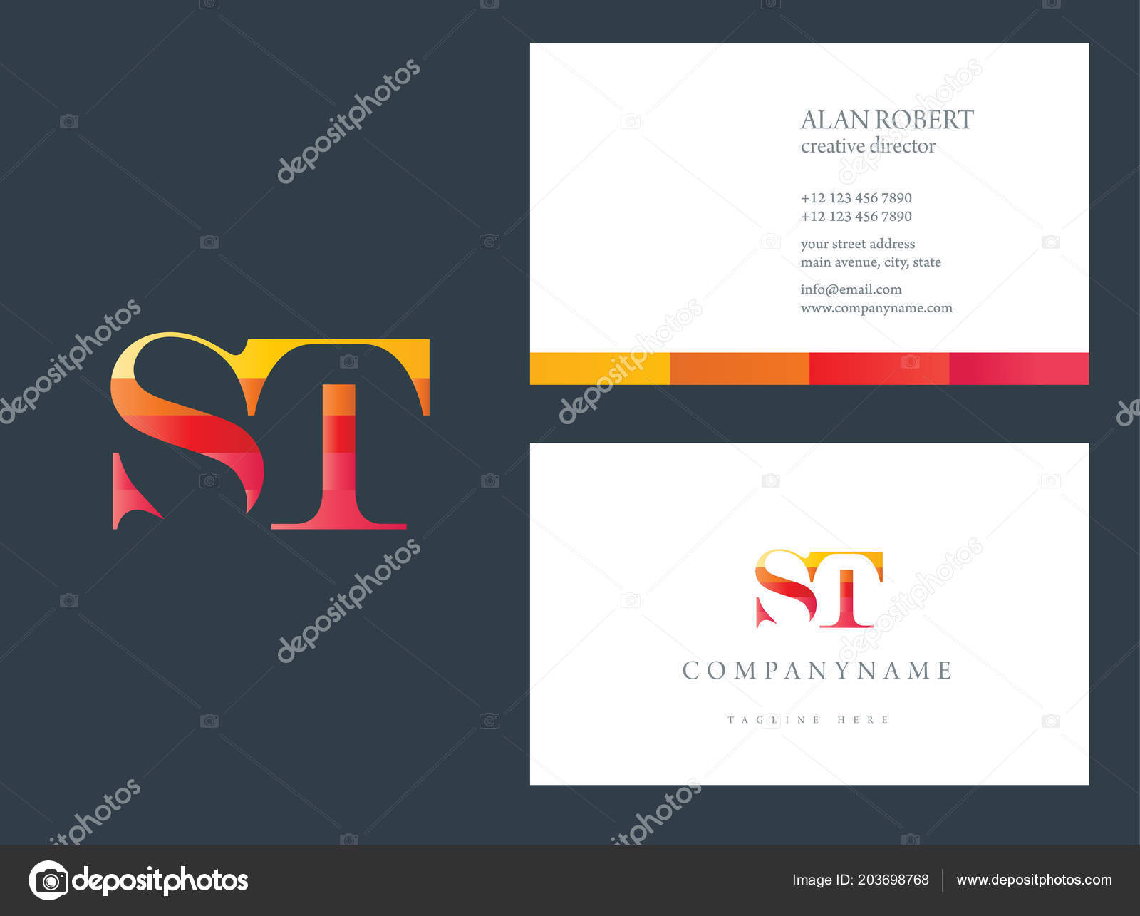 Simple logo business card template red colours vetor de stock simple logo business card template red colours vetor de stock reheart Images