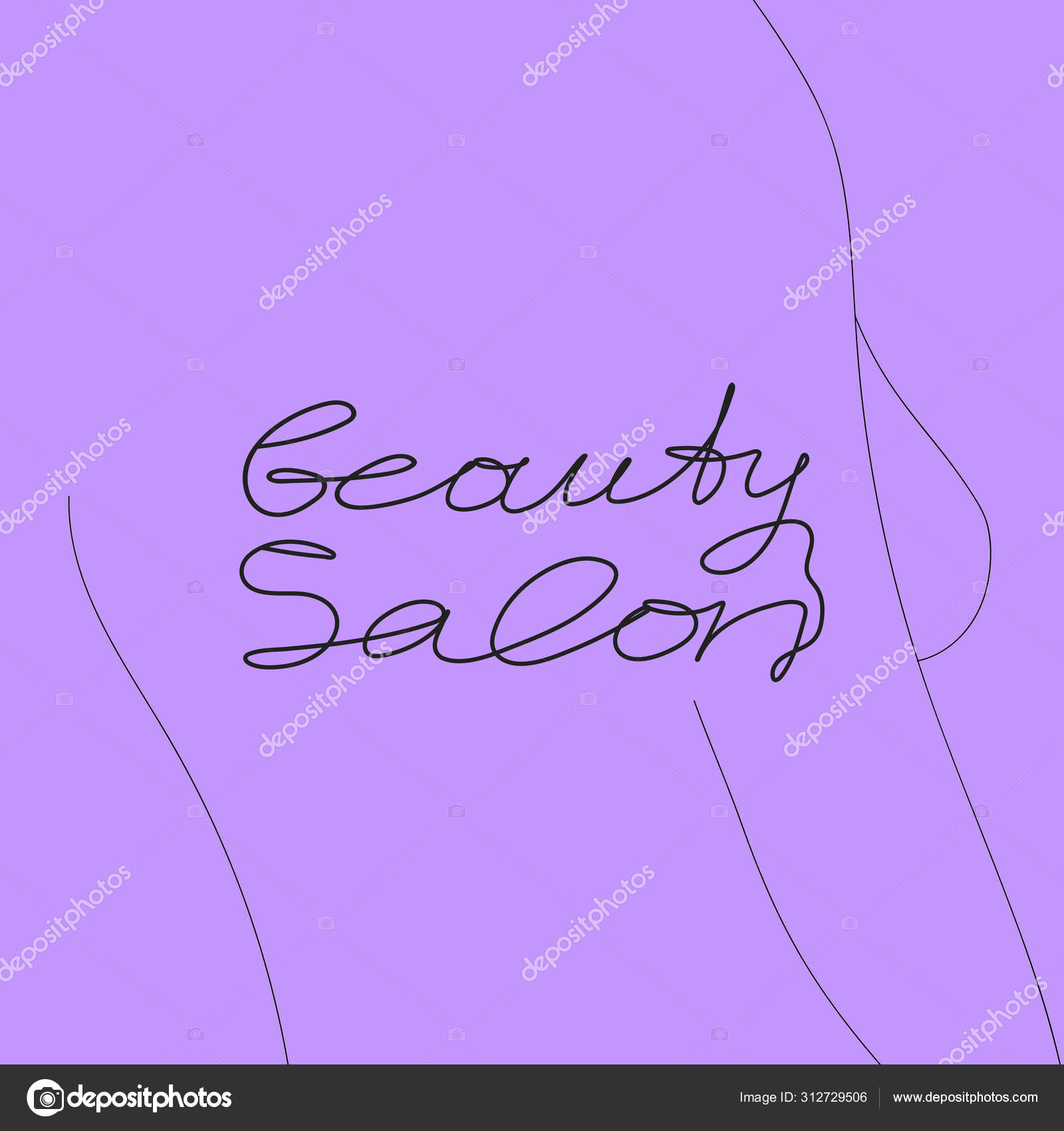 Beauty Salon Greeting Card Women Body Line Style Beauty Concept Stock Vector C Yuliashlyahova 312729506