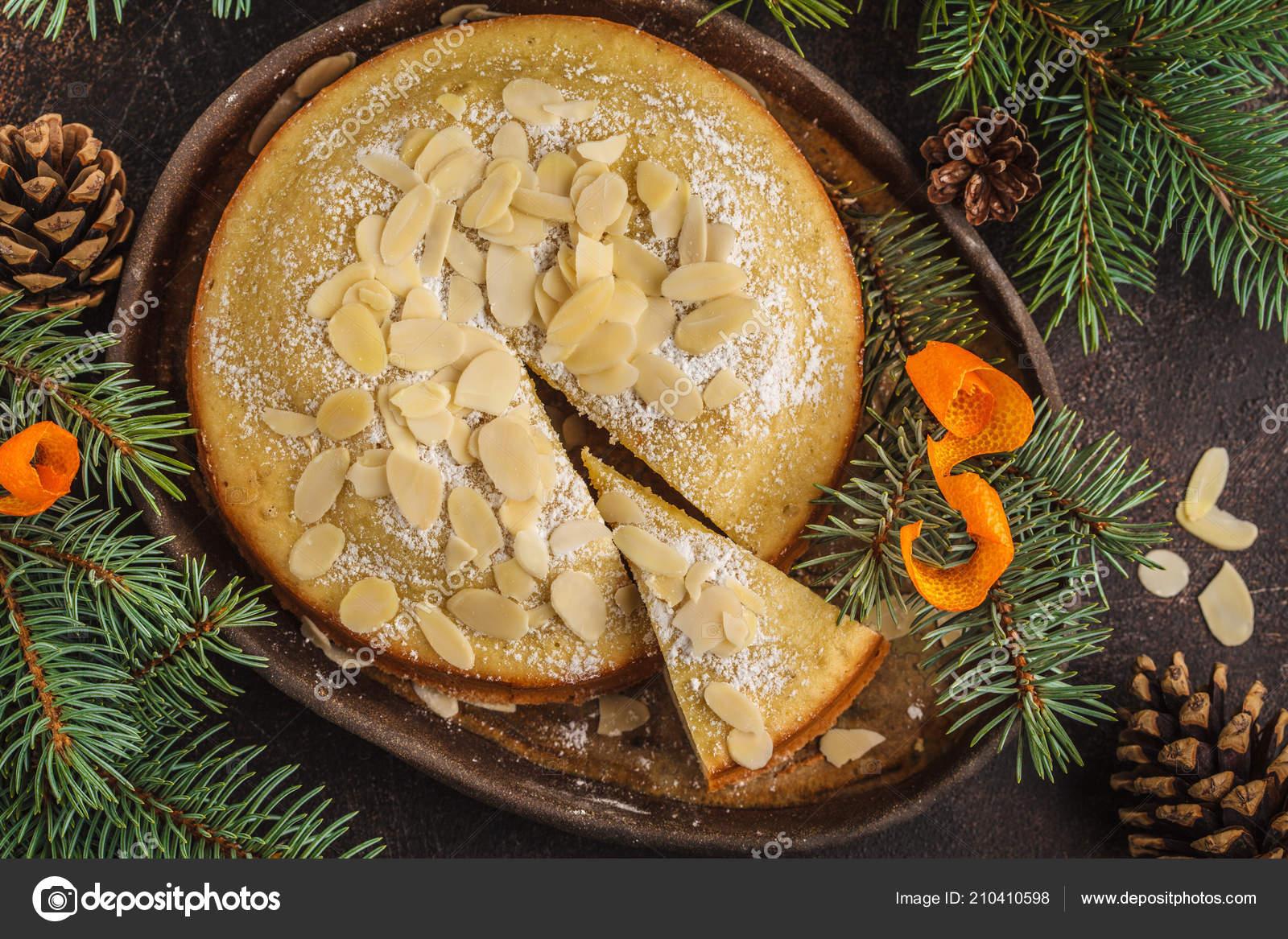 Traditional Christmas Norwegian Almond Cake Christmas