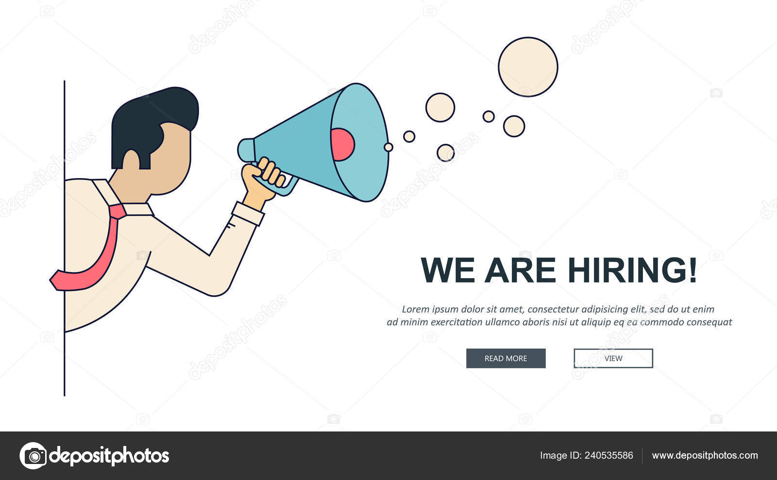 Hiring Banner Find Right Person Job Concept Hiring Recruiting New Stock Vector C Dacpro 240535586