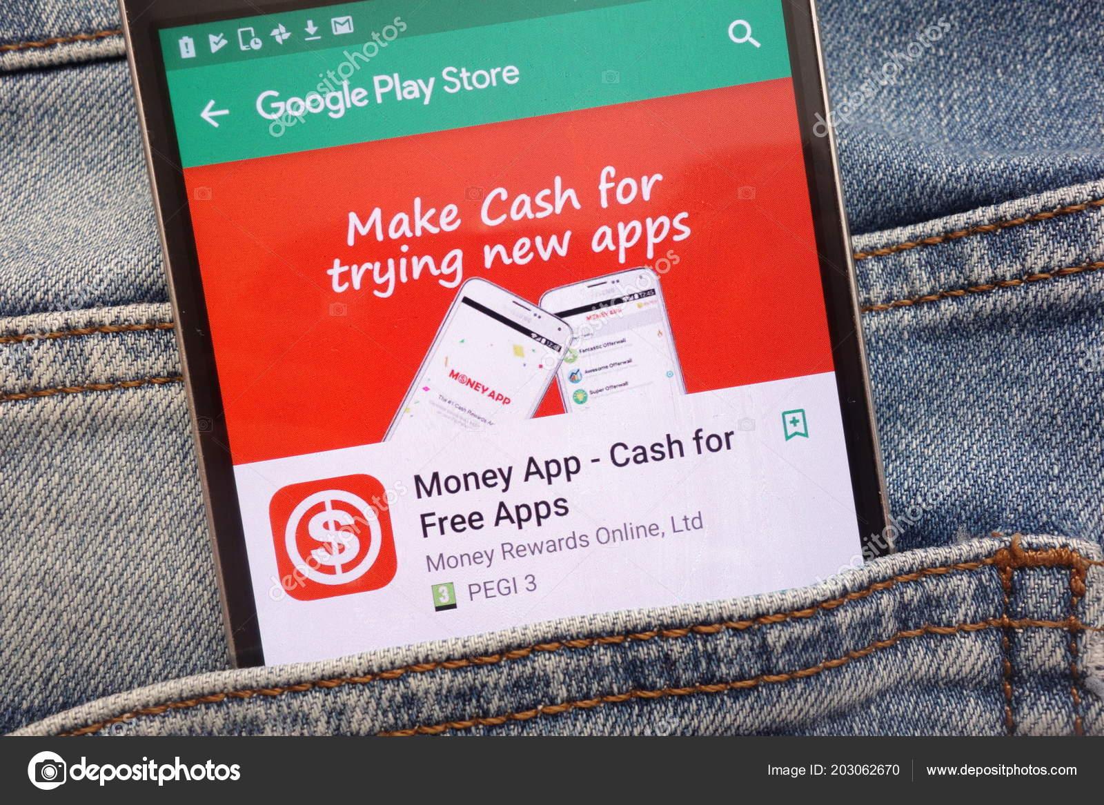 konskie poland june 2018 money app cash free apps google stock