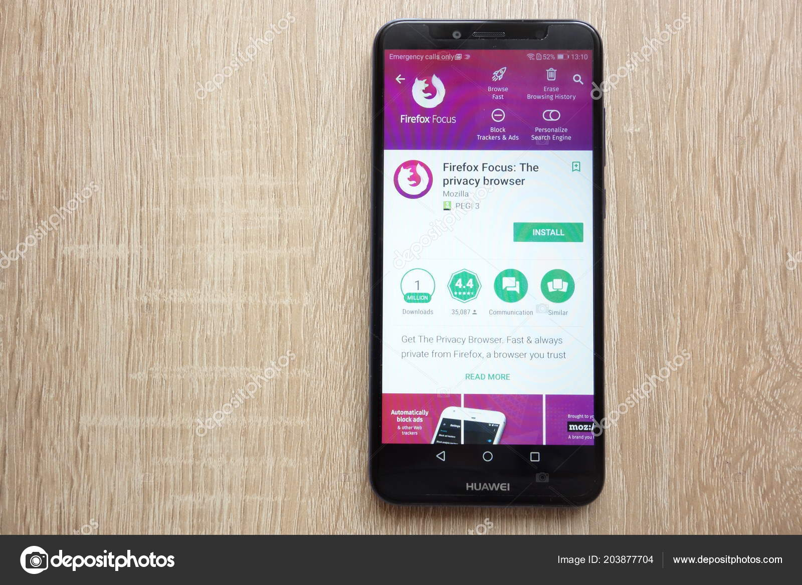 Konskie Poland June 2018 Firefox Focus Privacy Browser App