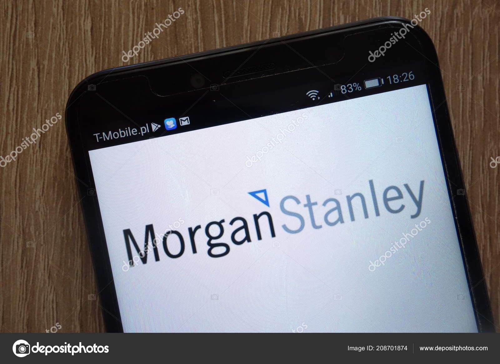 Konskie Poland August 2018 Morgan Stanley Logo Displayed Modern