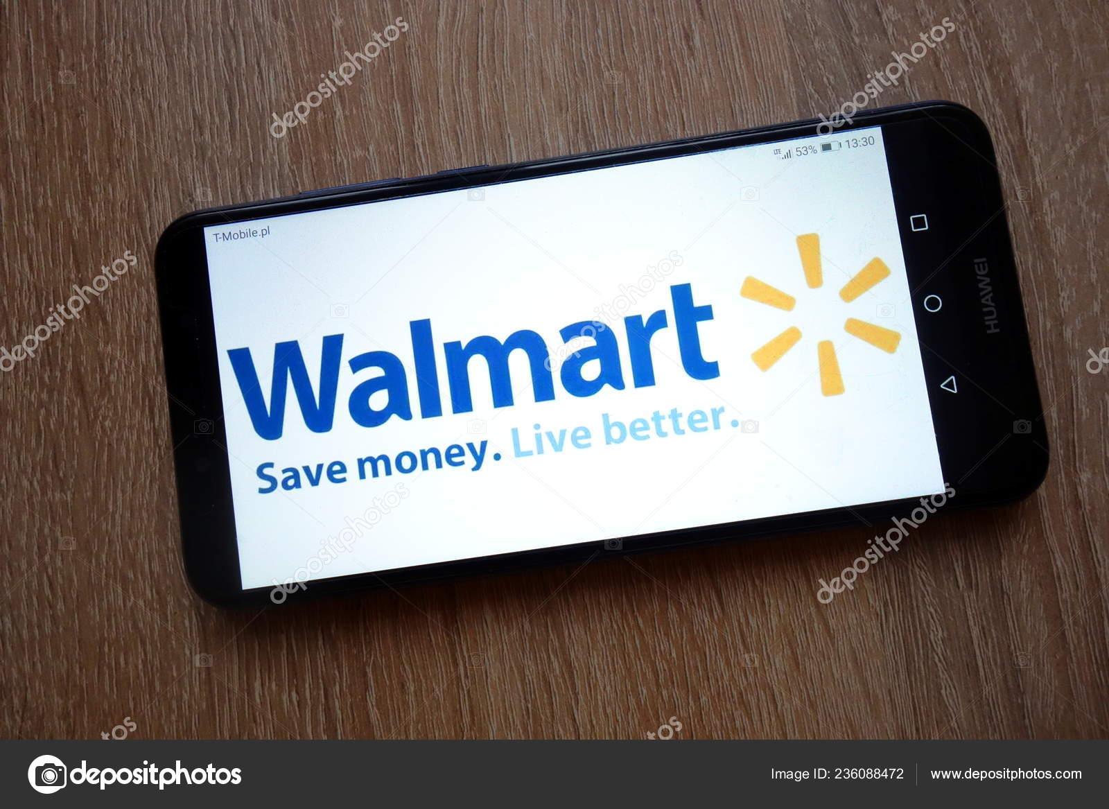 Walmart Stock Phone Number >> Konskie Poland January 2019 Walmart Logo Displayed Smartphone