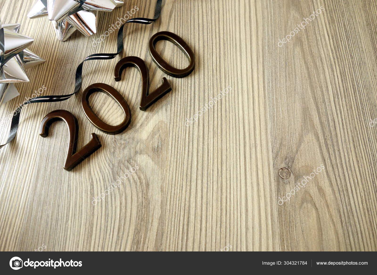 Tarjeta De Felicitación Del Año Nuevo 2020 O Concepto De