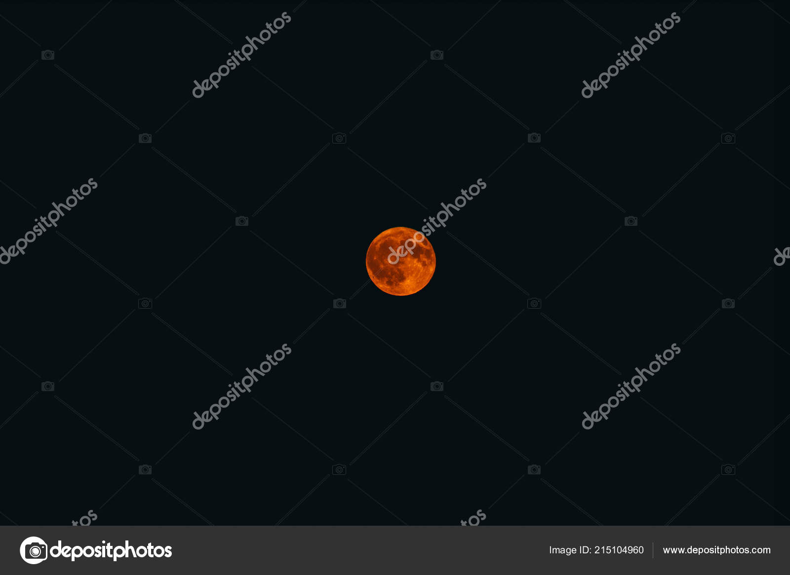 Scary Yellow Fool Moon Dark Sky Mystical Night Background Stock