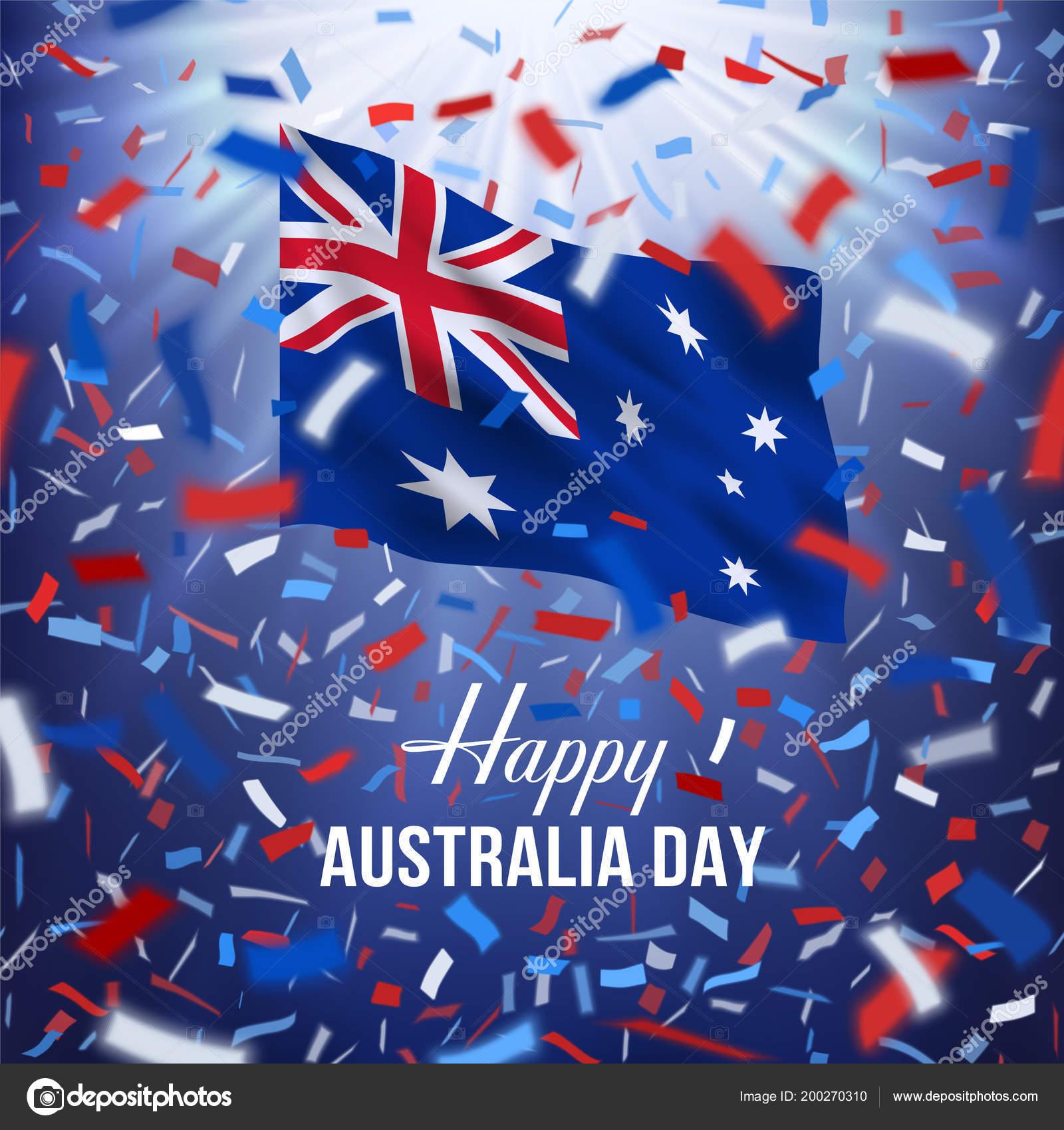 Happy Australia Day Greeting Card Stock Vector Mirrima 200270310