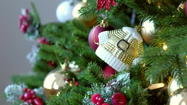 Christmas tree. Holiday background.