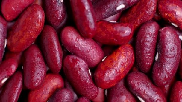 Rote Bohnen rotieren von oben