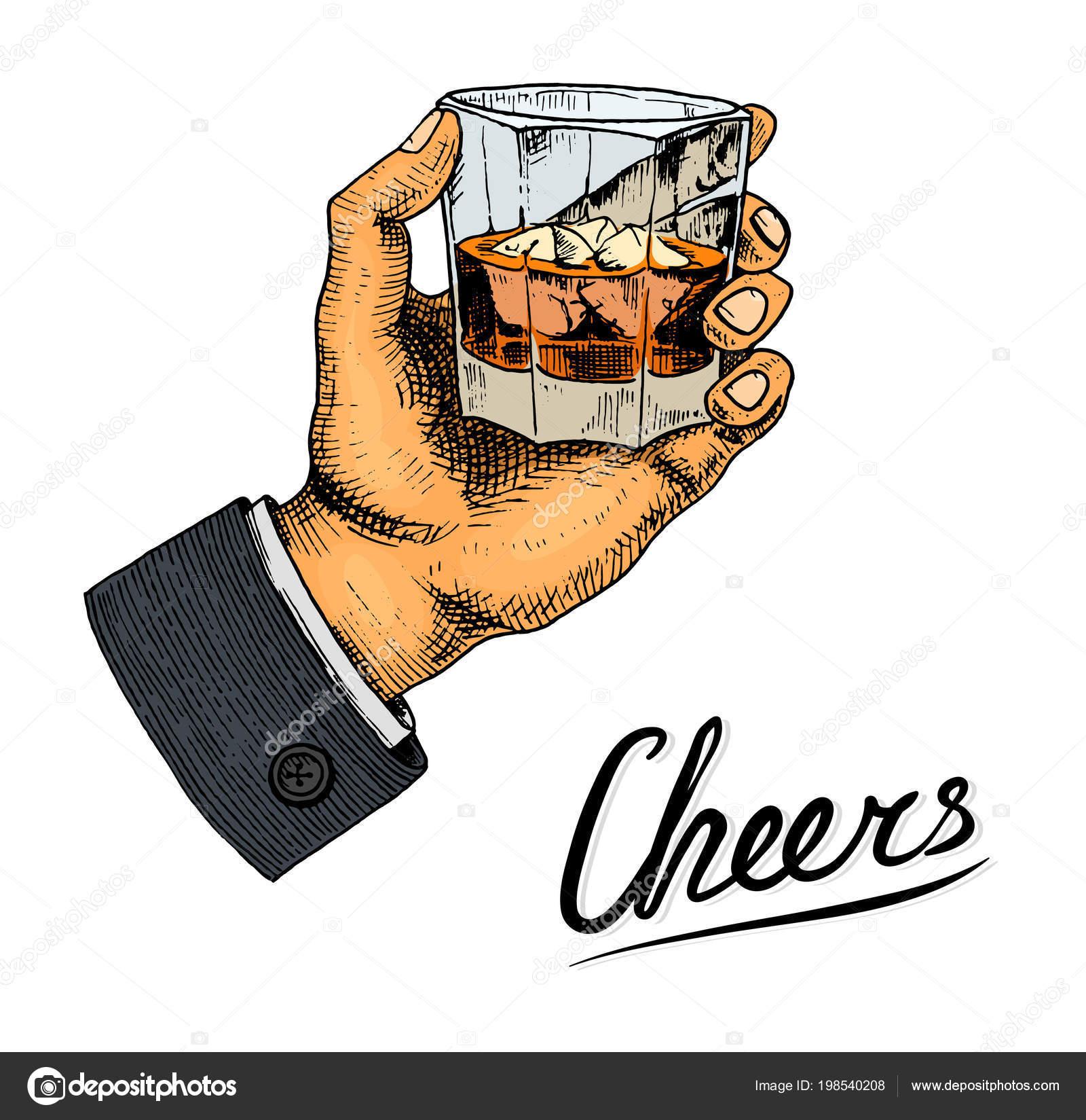 Vintage amerikanischer Whiskey-Abzeichen. Alkoholische Label mit ...