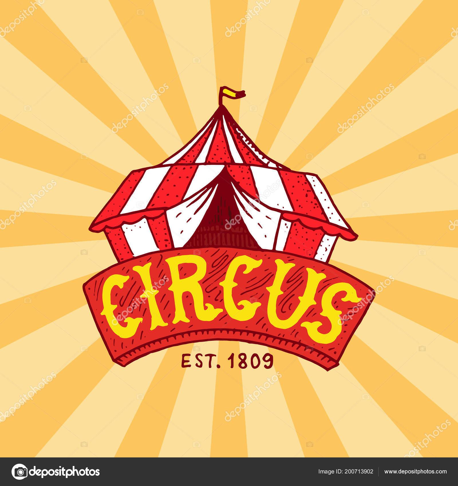Cirkusove Stany Odznak Sablona Arena Pro Vystoupeni Akrobatu A