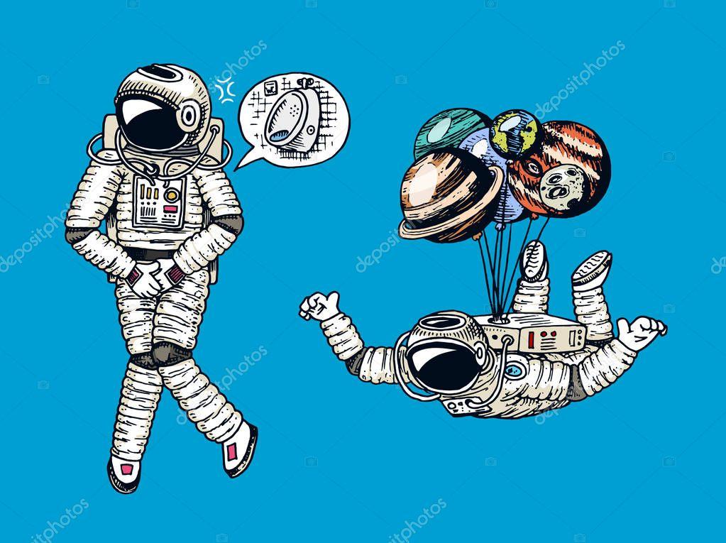 astronauts with ok symbol - 1000×828